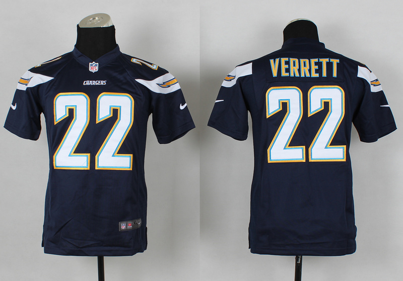 Youth Los Angeles Chargers 22 Jason Verrett Blue 2014 Nike Jerseys