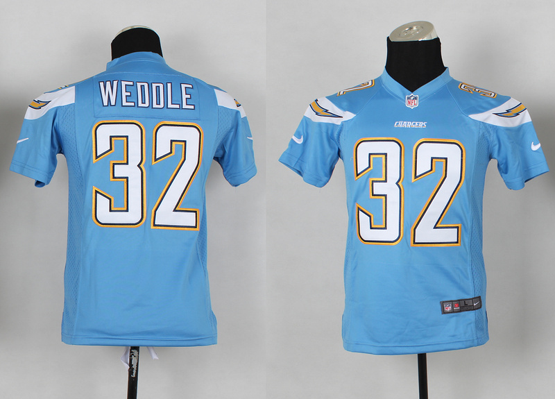 Youth San Diego Chargers 32 Eric Weddle Blue 2014 Nike Jerseys