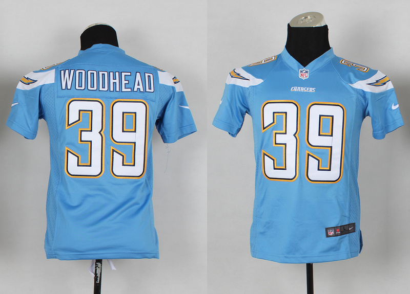 Youth San Diego Chargers 39 wooohead blue 2014 Nike Jerseys