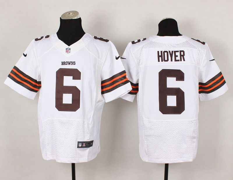 Cleveland Browns 6 Brian Hoyer White 2014 Nike Elite Jerseys