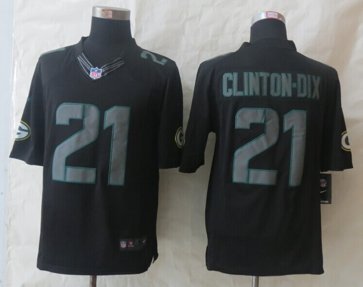 Green Bay Packers 21 Clinton-Dix New Nike Impact Limited Black Jerseys