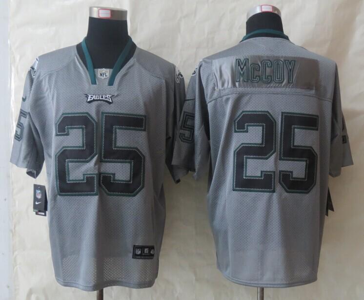 Philadelphia Eagles 25 McCoy New Nike Lights Out Grey Elite Jerseys