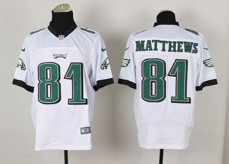 Philadelphia Eagles 81 Jordan Matthews White 2014 Nike Elite Jerseys