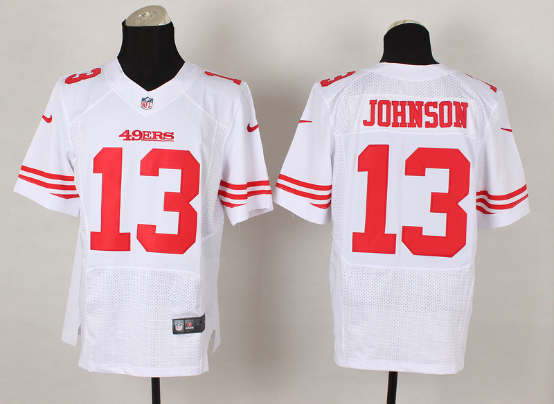 San Francisco 49ers 13 Steve Johnson White 2014 Nike Elite Jerseys