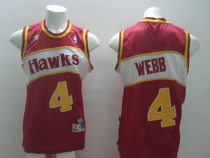 ATLANTA hawks 4 Webb red swingman 2014 jerseys
