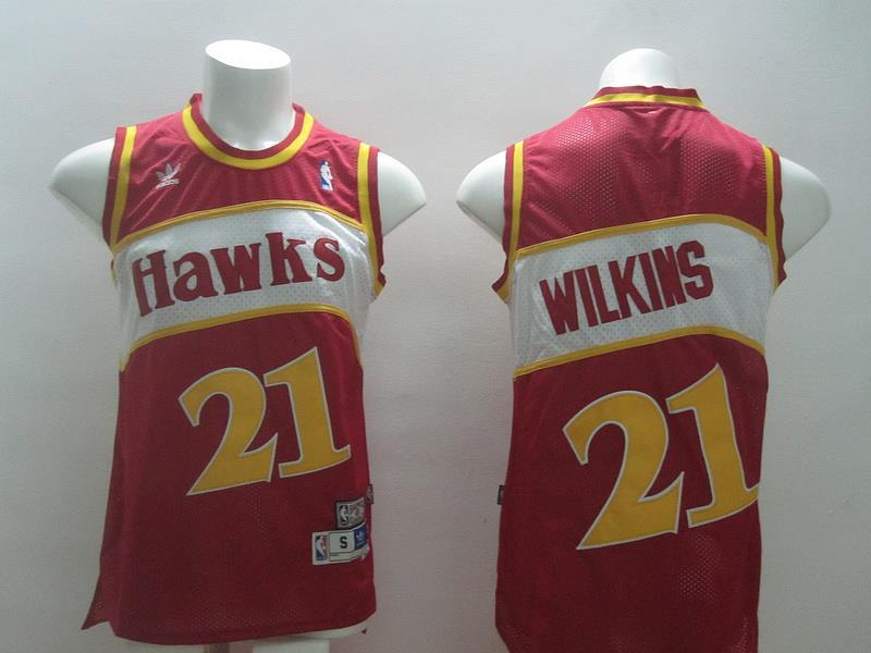 ATLANTA hawks 21 Wilkins red swingman 2014 jerseys