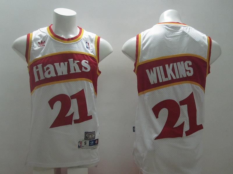 ATLANTA hawks 21 Wilkins white swingman 2014 jerseys