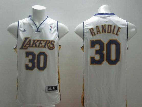 Los Angeles Lakers 30 Randle white 2014 jerseys