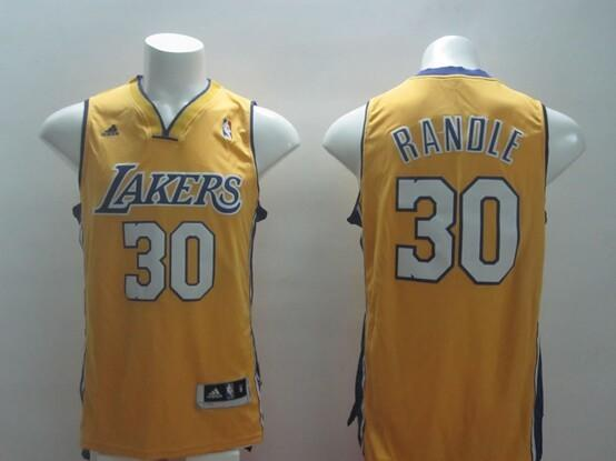 Los Angeles Lakers 30 Randle yellow 2014 jerseys