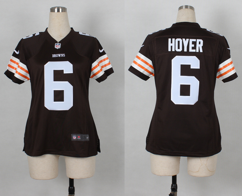Womens Cleveland Browns 6 Brian Hoyer Brown Nike 2014 Jerseys