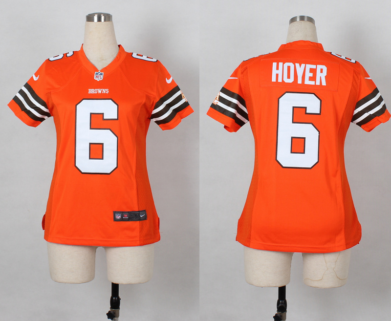 Womens Cleveland Browns 6 Brian Hoyer Orange Nike 2014 Jerseys