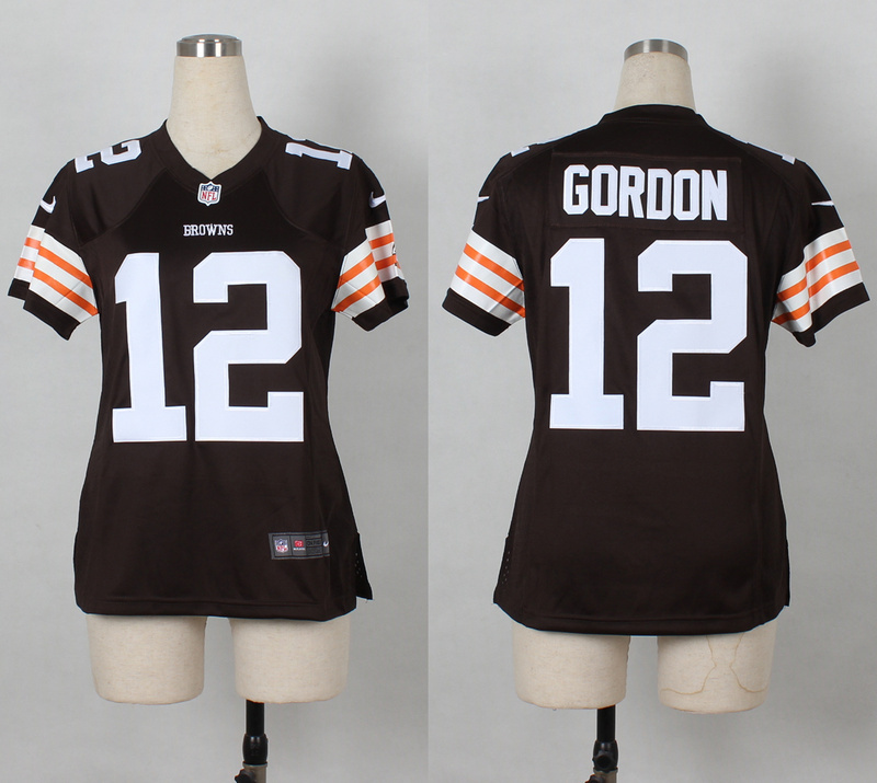 Womens Cleveland Browns 12 Josh Gordon Brown Nike 2014 Jerseys