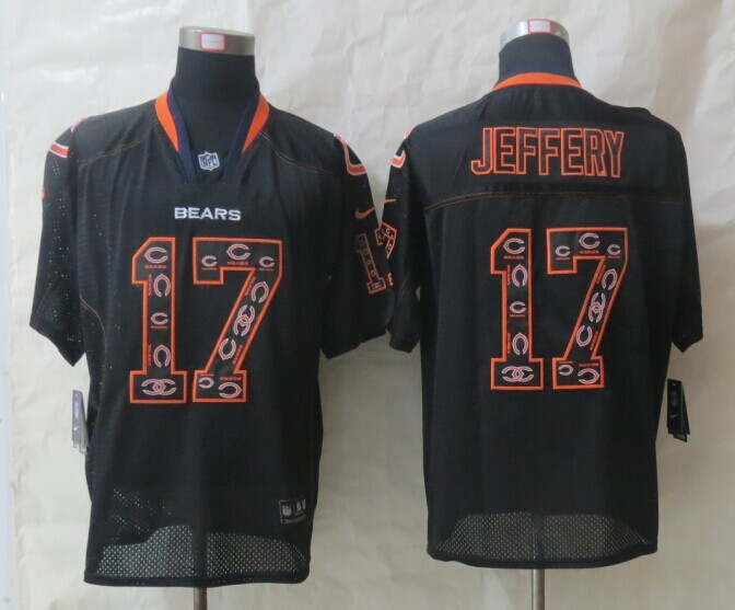 Chicago Bears 17 Jeffery Lights Out Black 2014 New Nike Elite Jerseys
