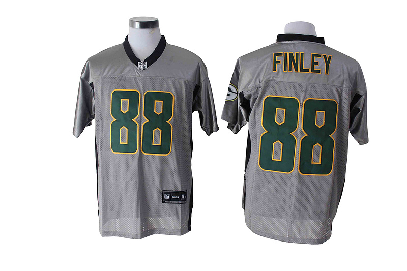 Green Bay Packers 88 Finley Gray Shadow 2014 Jerseys