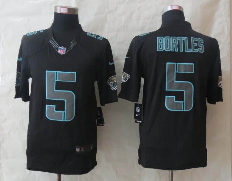 Jacksonville Jaguars 5 Bortles New Nike Impact Limited Black Jerseys