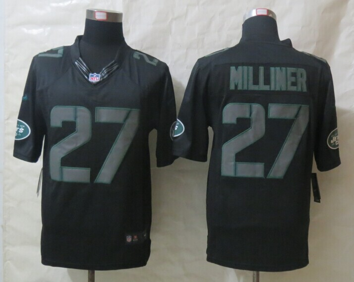 New York Jets 27 Milliner New Nike Impact Limited Black Jerseys
