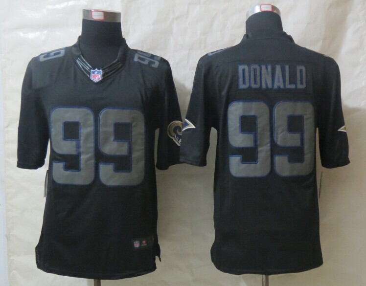 St.Louis Rams 99 Donald New Nike Impact Limited Black Jerseys