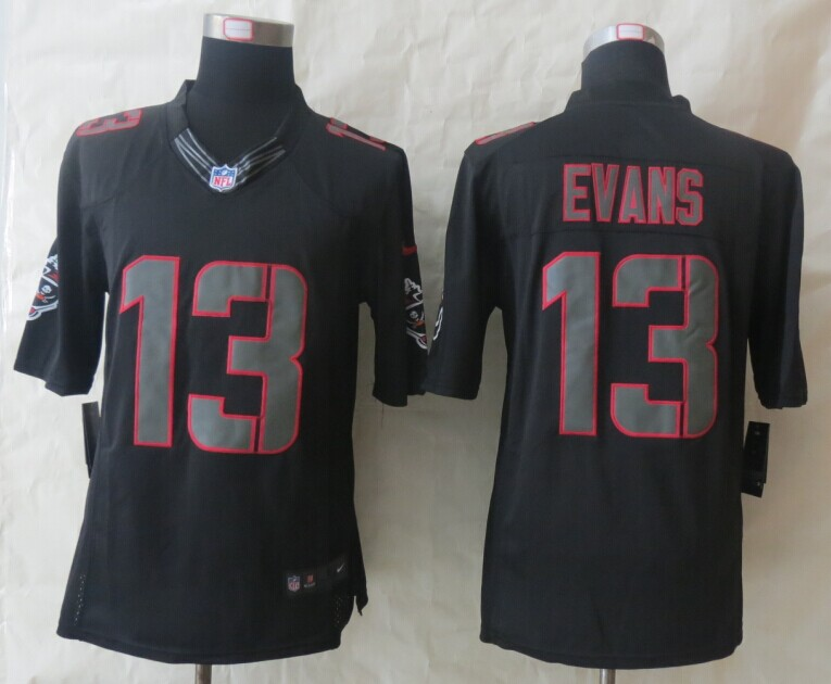 Tampa Bay Buccaneers 13 Evans New Nike Impact Limited Black Jerseys