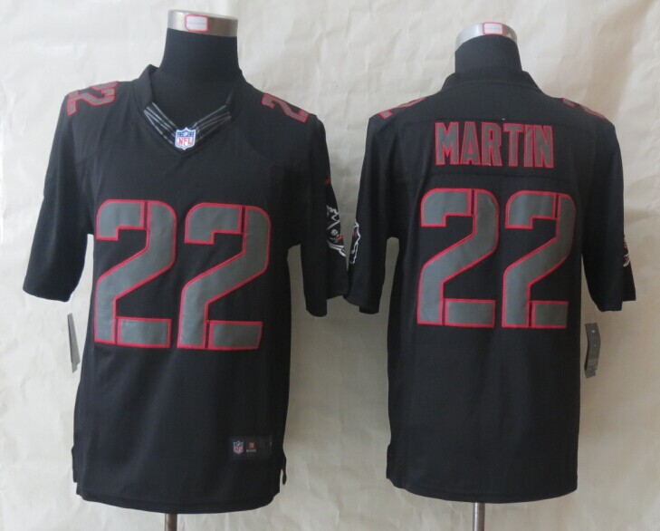 Tampa Bay Buccaneers 22 Martin New Nike Impact Limited Black Jerseys