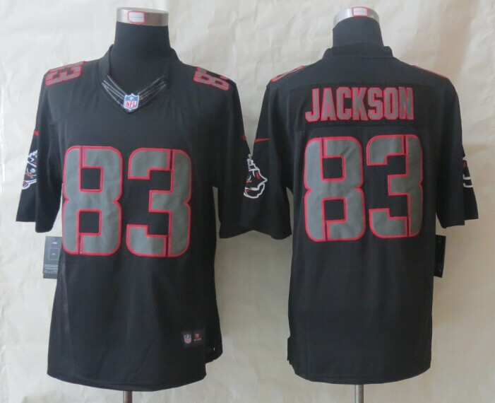 Tampa Bay Buccaneers 83 Jackson New Nike Impact Limited Black Jerseys
