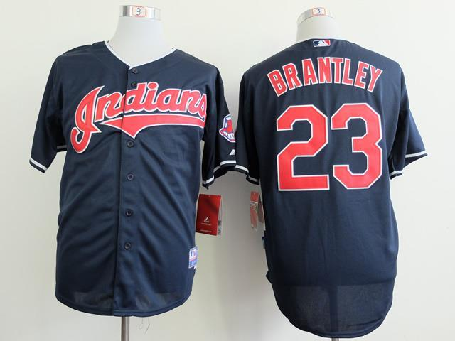 Cleveland Indians 23 Michael Brantley blue 2014 jerseys