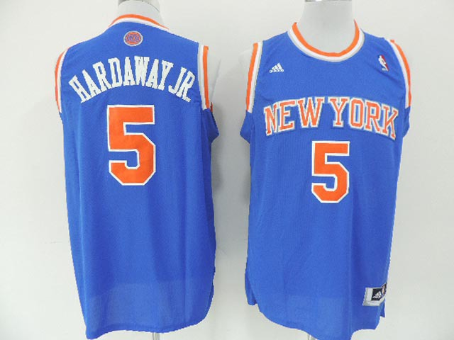 NBA New York Knicks 5 Hardway Jr Blue 2014 Jerseys