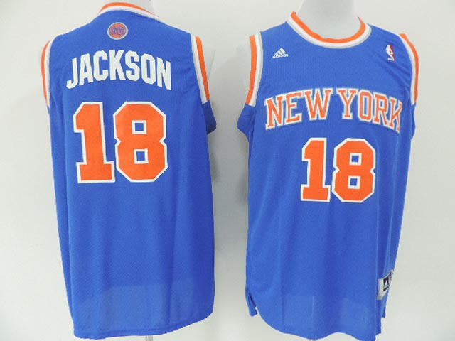 NBA New York Knicks 18 Jackson Blue 2014 Jerseys