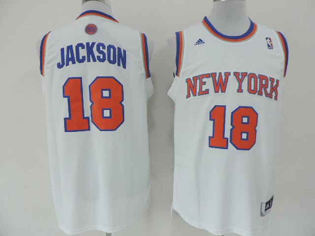 NBA New York Knicks 18 Jackson White 2014 Jerseys