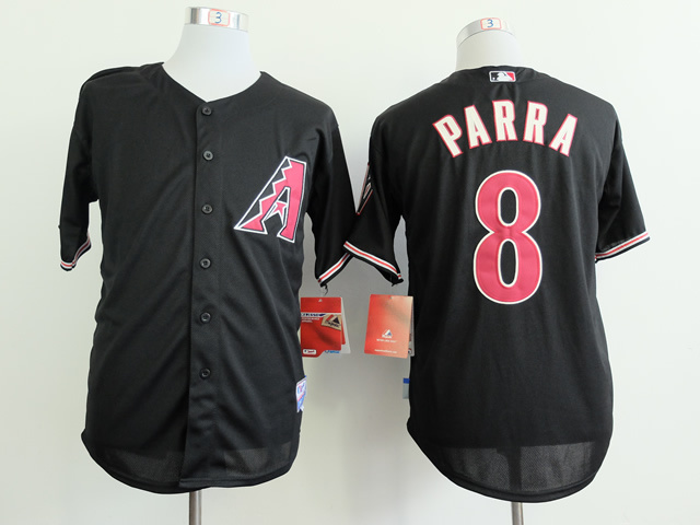 MLB Arizona Diamondbacks 8 Gerardo Parra Black 2014 Jerseys
