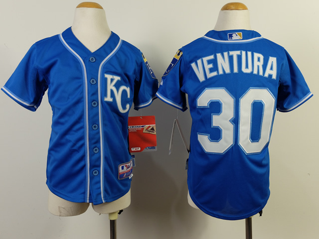 Youth MLB Kansas City Royals 30 Yordano Ventura Blue 2014 Jerseys