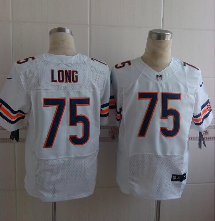 Chicago Bears 75 Long White Nike NFL 2014 Elite Jerseys