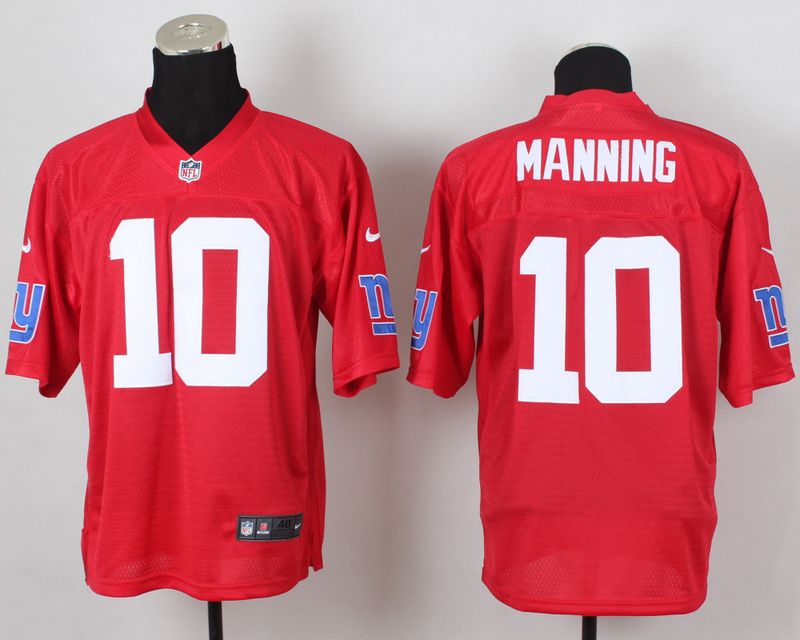 New York Giants 10 Manning QB Red 2014 Nike Elite Jersey