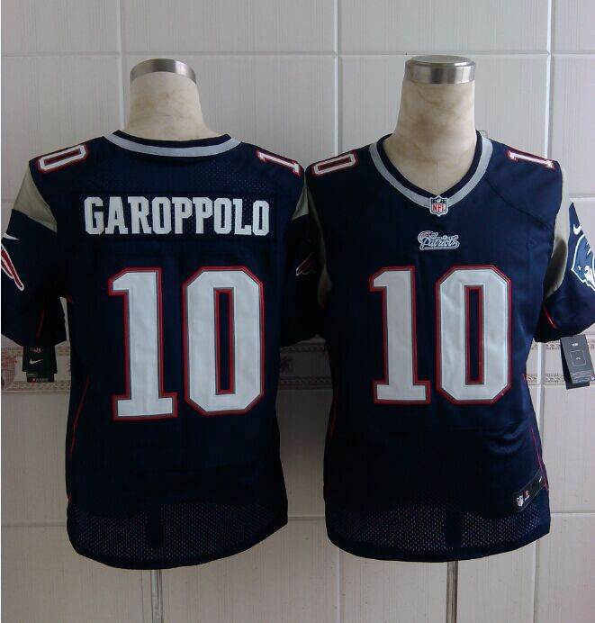 New England Patriots 10 Garoppolo Blue 2014 New Nike Elite Jerseys