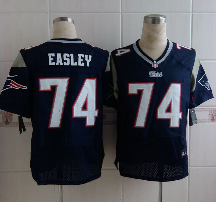 New England Patriots 74 Easley Blue 2014 New Nike Elite Jerseys