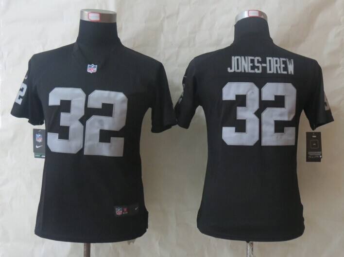 Womens Oakland Raiders 32 Jones-Drew Black Nike Limited Jerseys