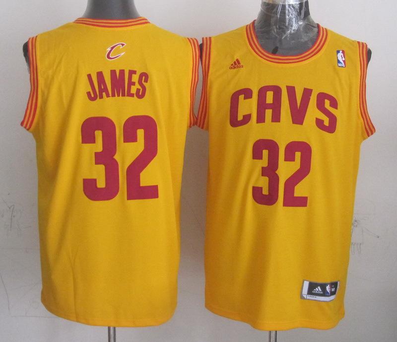 NBA Cleveland Cavaliers 32 James Yellow 2014 Jerseys