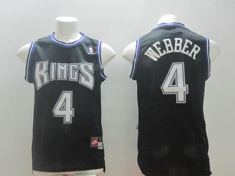 NBA Sacramento Kings 4 Chris Webber Black 2014 Jerseys