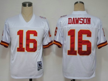 Kansas City Chiefs 16 Len Dawson White Throwback Mitchell And Ness NFL Jersey