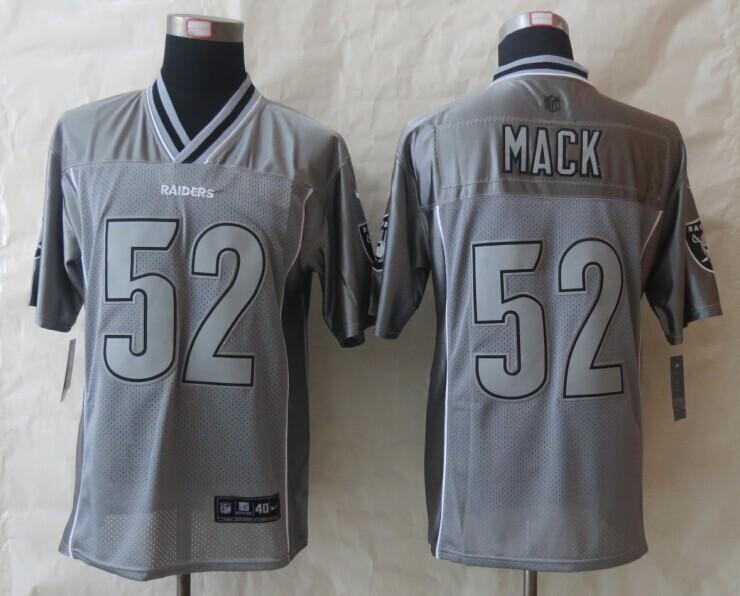 2014 New Nike Oakland Raiders 52 Mack Grey Vapor Elite Jerseys