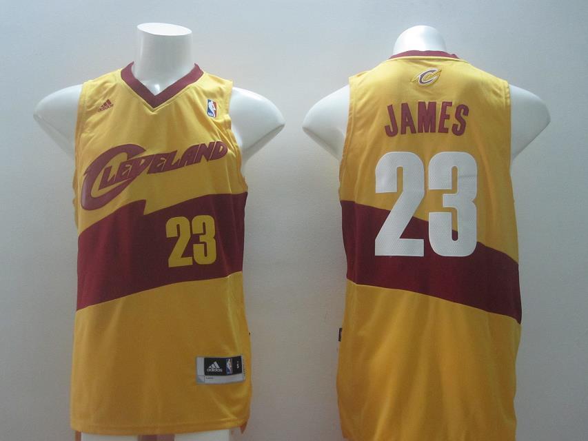 NBA Cleveland Cavaliers 23 James Yellow Swingman 2014 Jerseys