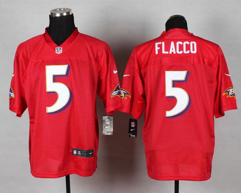 Baltimore Ravens 5 Joe Flacco QB Red 2014 Nike Elite Jersey