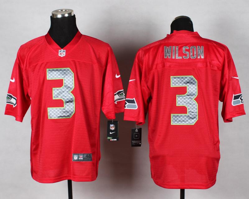 Seattle Seahawks 3 Wilson QB Red 2014 Nike Elite Jersey