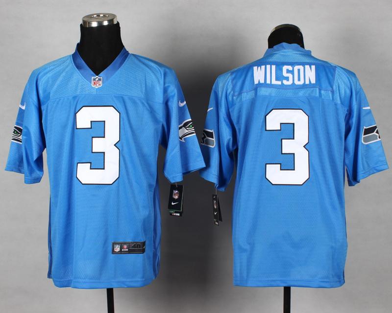 Seattle Seahawks 3th Wilson QB Blue 2014 Nike Elite Jersey