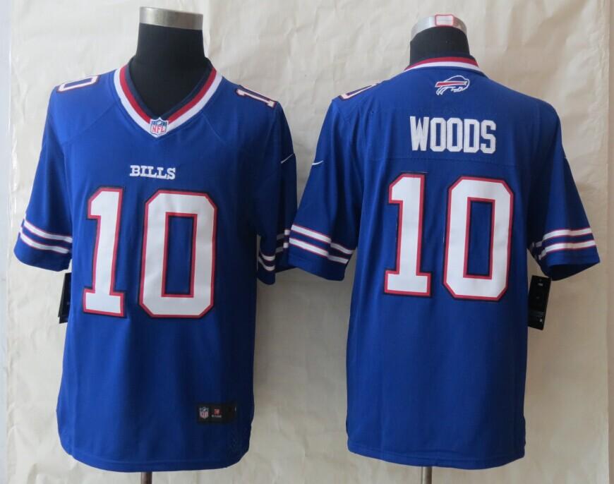 Buffalo Bills 10 Woods Blue New Nike Limited Jersey