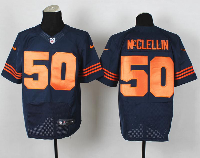 Chicago Bears 50 Shea McClellin Blue Orange Nike NFL 2014 Elite Jerseys