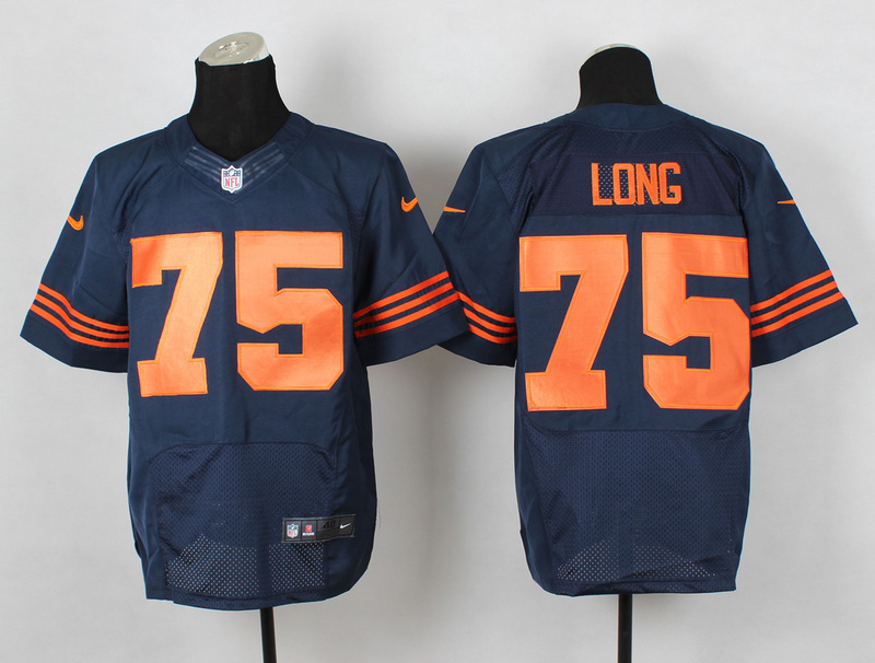 Chicago Bears 75 Long Blue Orange Nike NFL 2014 Elite Jerseys