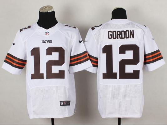 Cleveland Browns 12 Josh Gordon White 2014 Nike NFL Elite Jerseys