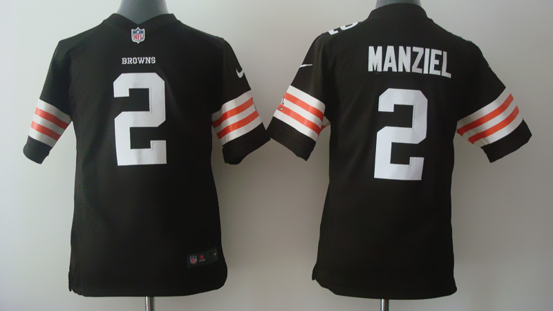 Youth Cleveland Browns 2 Johnny Manziel brown Nike 2014 Jerseys