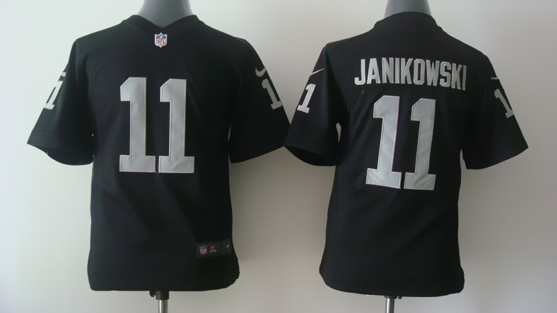 Youth Oakland Raiders 11 Sebastian Janikowski Black Nike 2014 Jerseys