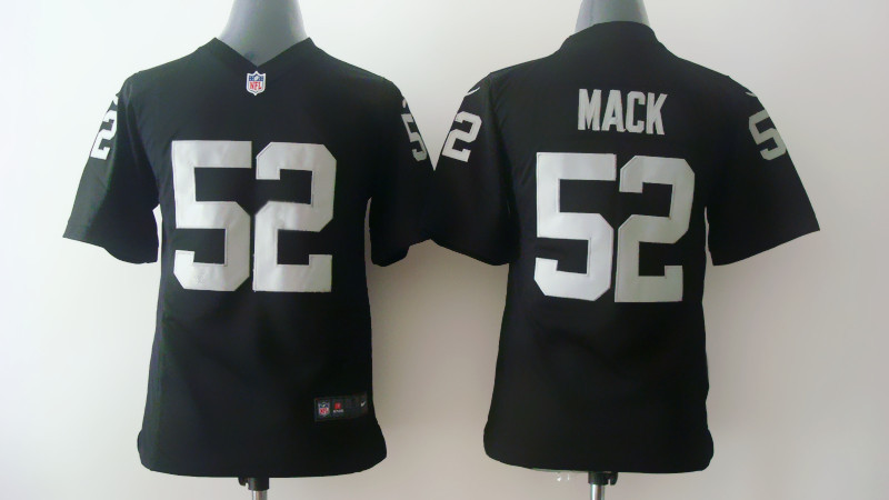 Youth Oakland Raiders 52 Mack Black Nike 2014 Jerseys